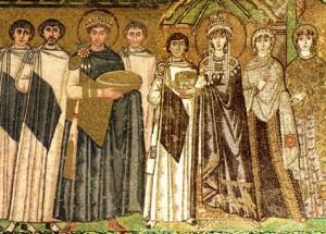Император Юстиниан и императрица Феодора